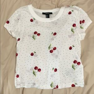 cropped cherry tee